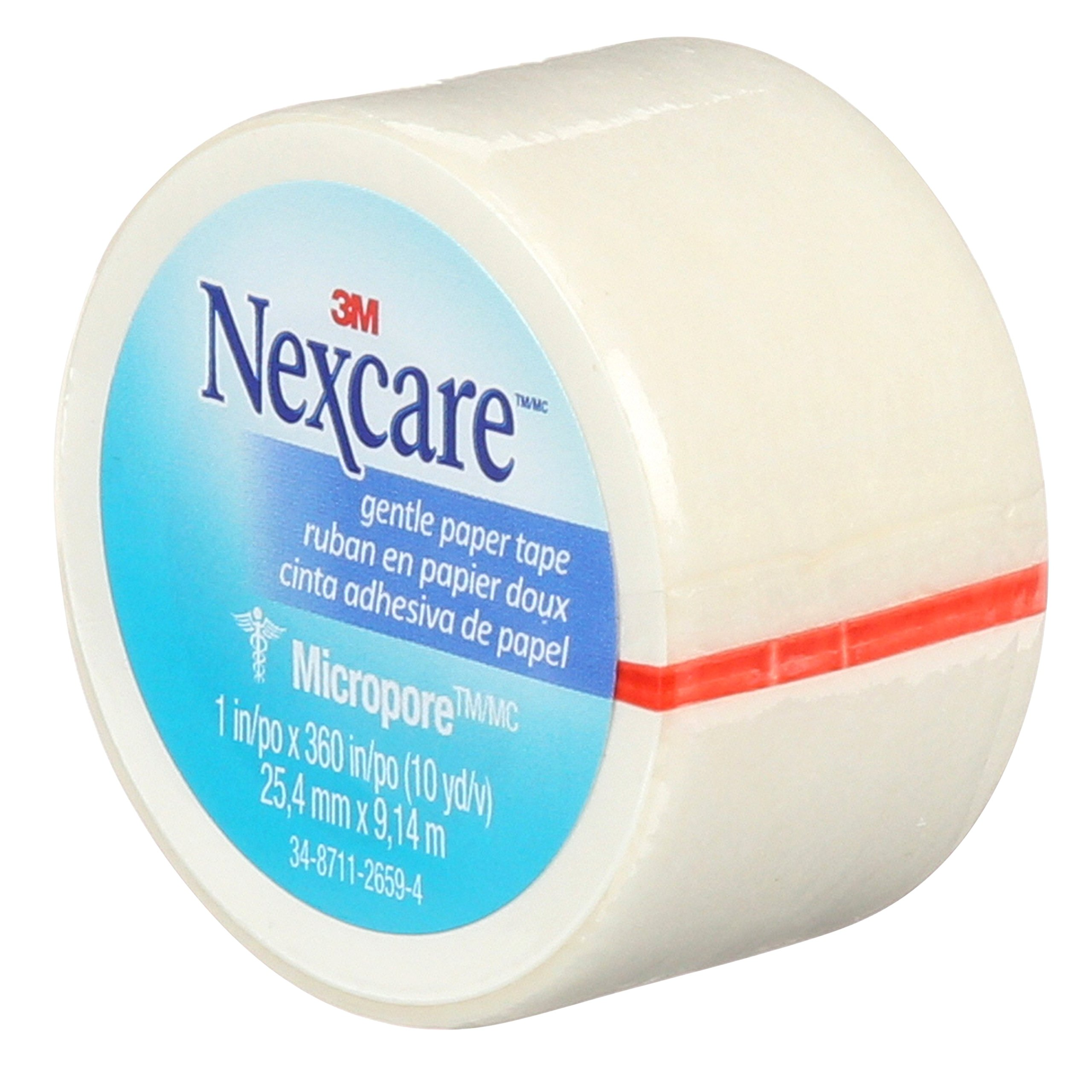 Nexcare Micropore Gentle Paper Tape, Dermatologist Tested, 1 Inch X 10 Yards, 9 Rolls by Nexcare