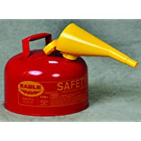 Eagle UI-25-FS Type I Metal Safety Can with F-15 Funnel, Flammables, 11-1/4