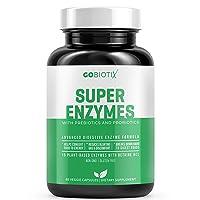 GoBiotix Super Enzymes - 15 Plant Based Digestive Enzymes with Prebiotics, Probiotics...