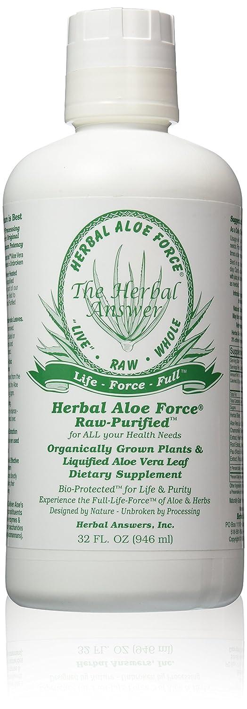 Herbal Answers Herbal Aloe Force Aloe Vera and Herbal Dietary Supplement, 32 fl oz : Body Scrubs : Beauty