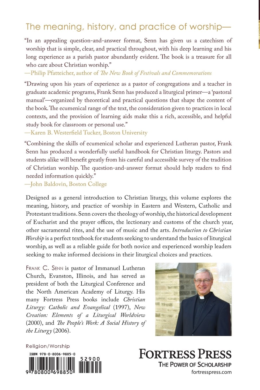 Introduction to christian liturgy frank c senn 9780800698850 introduction to christian liturgy frank c senn 9780800698850 amazon books fandeluxe Image collections