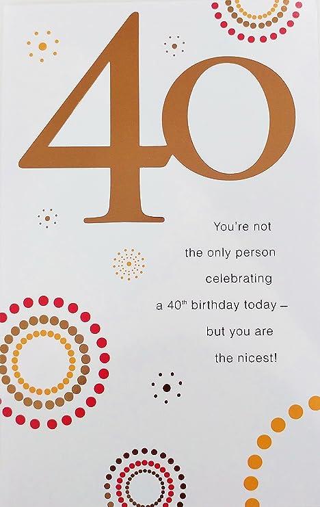 Amazon.com: 40 años old – 40th Cumpleaños Tarjeta de ...
