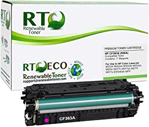 Renewable Toner Compatible Toner Cartridge Replacement for HP 508A CF363A use in Laserjet Enterprise MFP M577 M553 (Magenta)