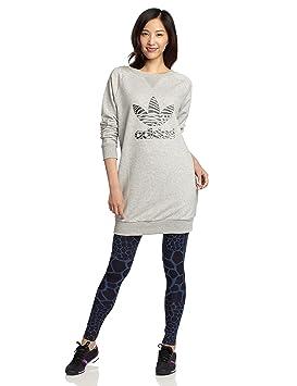 23b374b71eace adidas Sweat Dress Robe pour Femme M Gris - Medium Grey Heather ...