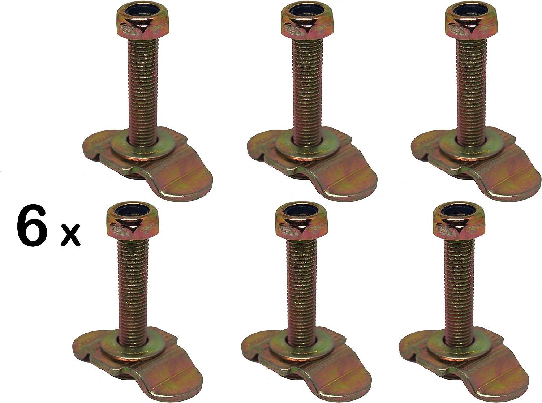 6 X Single Schraubfitting F Airlineschiene M8x45 500 Elektronik