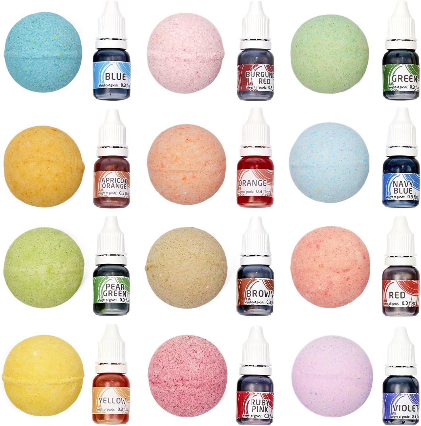 Tinte de jabón para hacer jabón – 12 colores – tinte líquido de bomba de baño