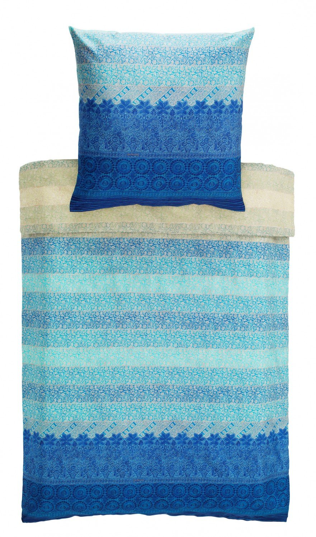 Bassetti 9235352 Appiani V3 Bettwäsche-Set, 2 teilig, Baumwolle, 200 x 135 x 0,5 cm, blau Gemustert