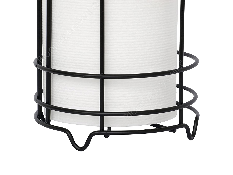 Black simplywire Free Standing Toilet Roll Holder Anti-Rust Bathroom Tissue Paper Storage Unit