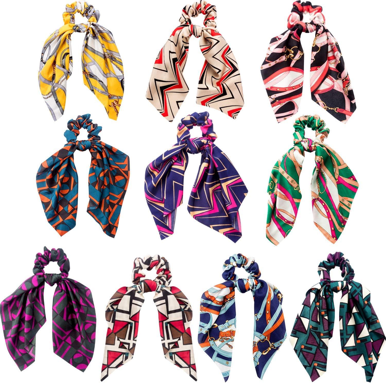 10 Unidades de Pelo Scrunchies Bandas Elásticos Del Pelo Flores De Gasa Bufanda Del Pelo Lazos Titular De La Cola De Caballo Para Mujeres Niñas (Estilo A): Amazon.es: Belleza