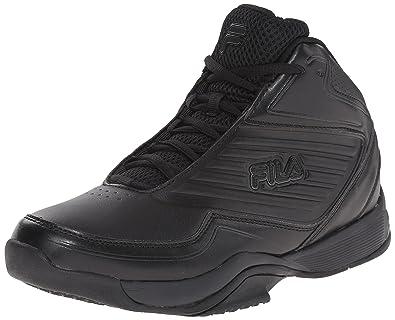 fila basketball shoes black. fila men\u0027s import-m basketball shoe, black/black/black, shoes black
