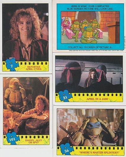 1990 Topps Teenage Mutant Ninja Turtles 5 Card Lot with ...