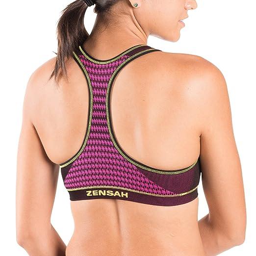 6ec1da81a8 Zensah Seamless Sports Bra - Best Sports Bra for Running  Amazon.in  Sports