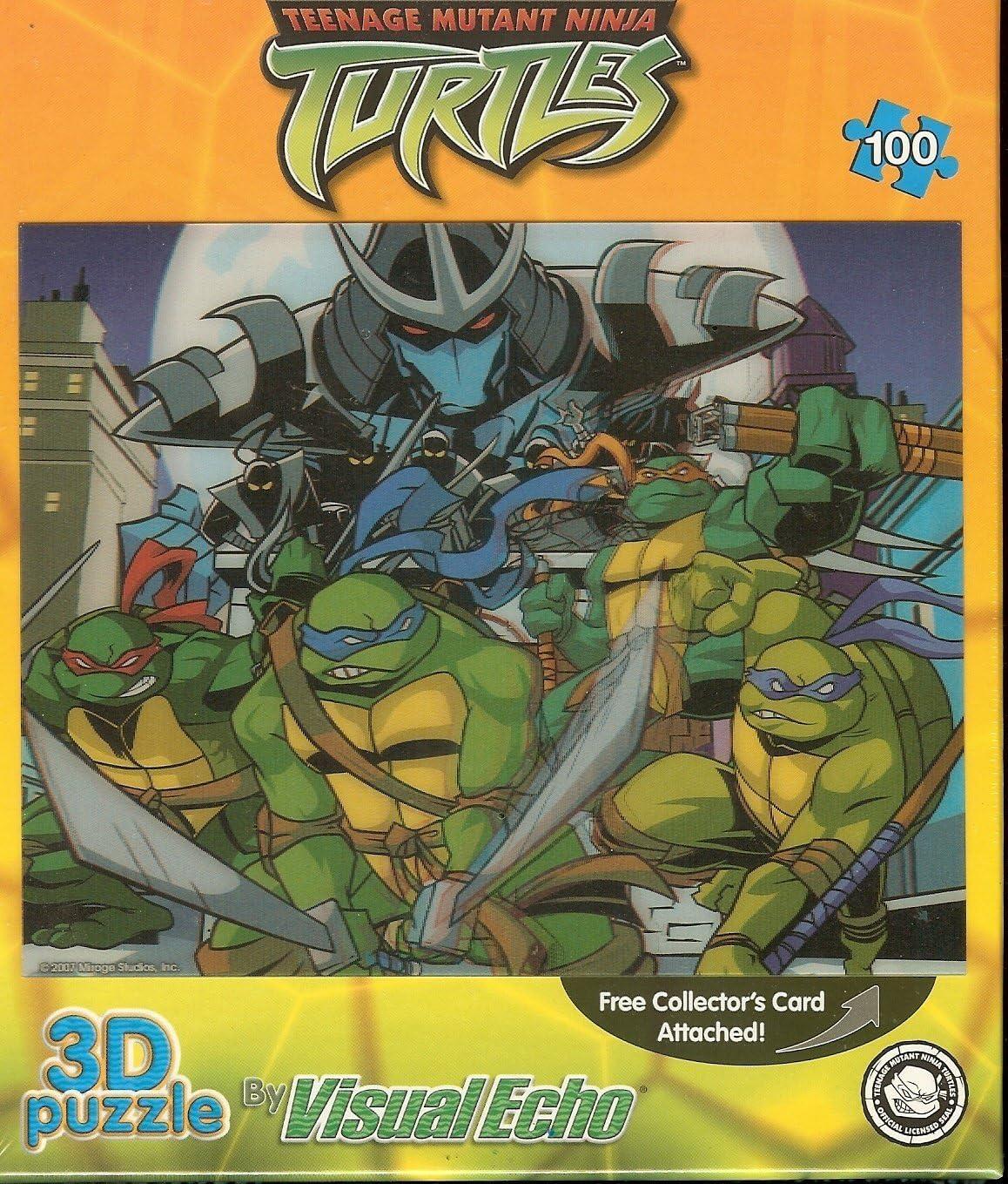 Visual Echo 3D Puzzle Teenage Mutant Ninja Turtles TMNT Lenticular Puzzle 100 piece