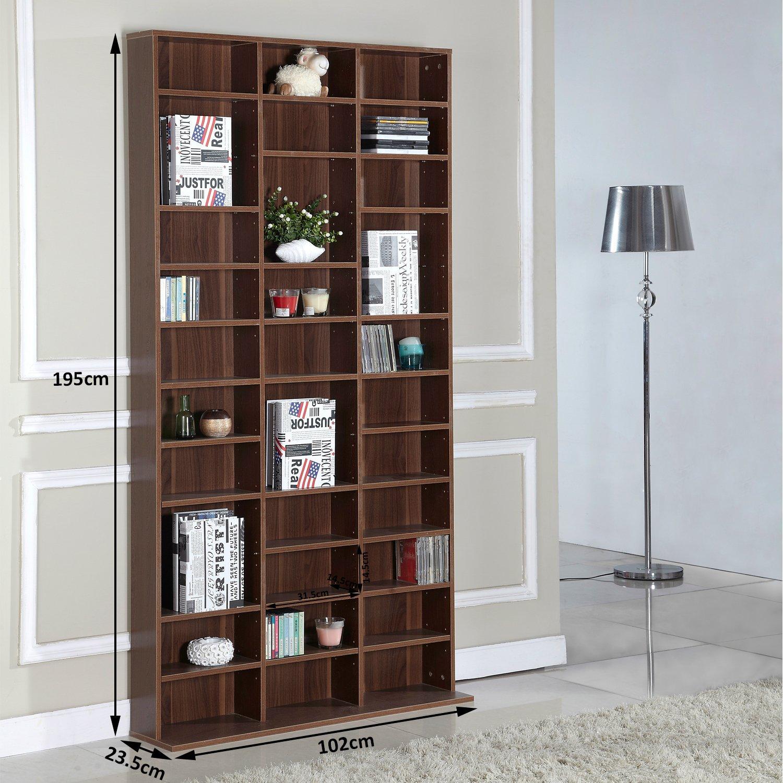 HOM DVD CD Storage Shelf Rack Media Storage Unit Shelves Racks