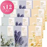CELDERMA Korean Mask Pack (12 Sheets) Premium Face Masks For Moisturizing, Cooling, Soothing with Jasmine and Camomile (12 Count) - Intense Hydration Set