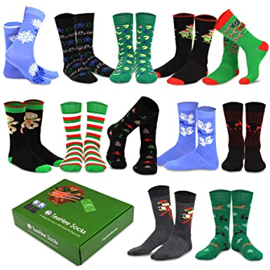 8ae252bceb TeeHee Christmas Holiday 12-Pack Gift Socks for Men with Gift Box (Holiday-