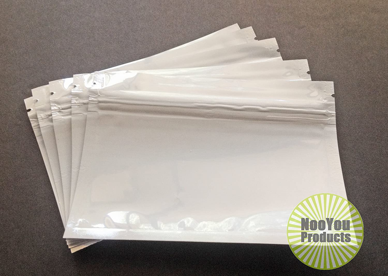 Aluminum/foil Pouches (5x3.5) Horizontal Mylar Ziplock Heat Seal Bags, Food Safe Storage, Smell Proof Packaging, Durable Reusable Survival Baggies (Herbs Seeds Tea Coffee Snacks) (25, Clear/Black)