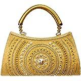Louise Belgium Designer Hand bag for Women - Gold