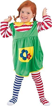 FIORI PAOLO – Disfraz de niña Pippi Calzaslargas S (3-4 anni ...
