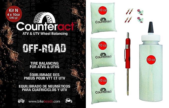 10oz DIY Kit DIYK-10 Counteract Tire Balancing Beads Light Truck//Off-Road 40oz