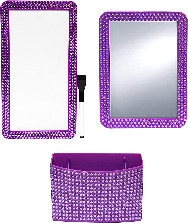 Inkology Glam Rocks 4pc Magnet Locker Set Purple, 1 Set