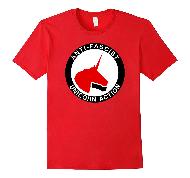 Anti-Fascist Unicorn Action - Funny Anti-Nationalism T-Shirt-CD