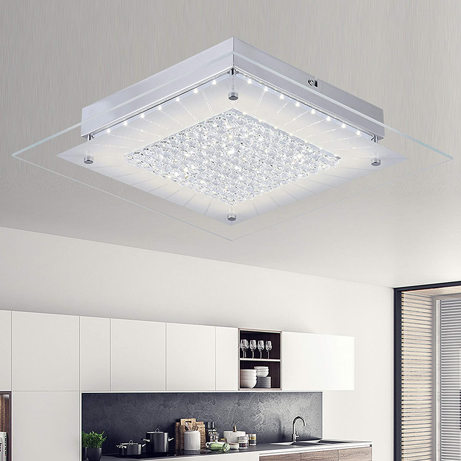 Audian crystal ceiling lights ceiling lamp close to ceiling light
