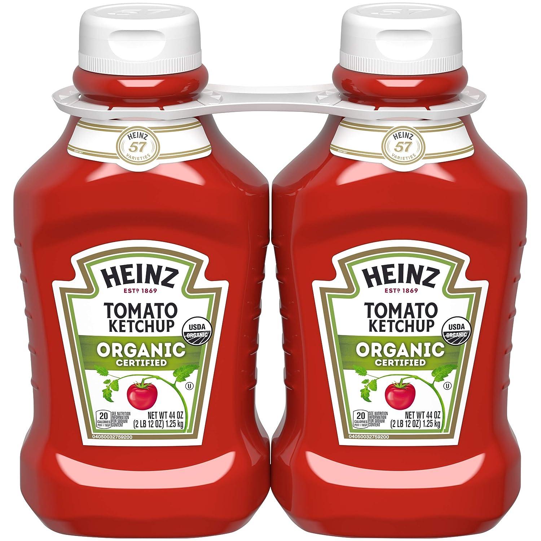 Heinz Organic Tomato Ketchup (44 oz Bottles, Pack of 2)
