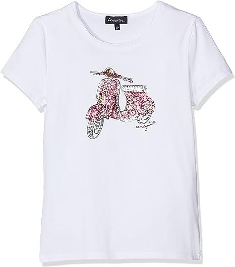 Conguitos Camiseta Niña Vespa Blanco, 8A para Niñas ...