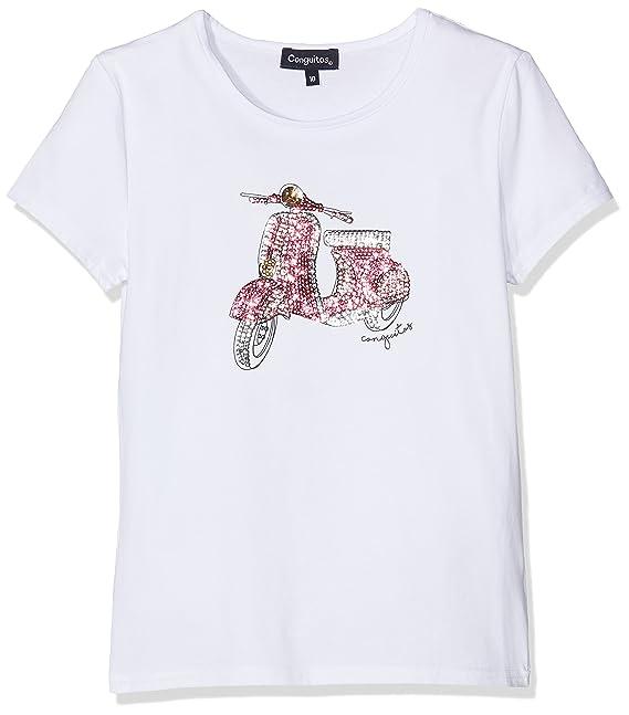 Conguitos Camiseta Niña Vespa Blanco, Niñas, 8A: Amazon.es: Ropa y accesorios