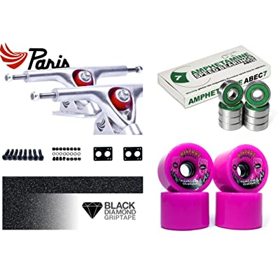 'Paris 7 Longboard Axes Set Up – ABEC 7–76 mm Bigfoot Wheels