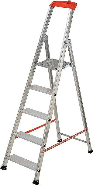 Stabila M101800 - Escalera aluminio profesional con 6 peldaños: Amazon.es: Bricolaje y herramientas