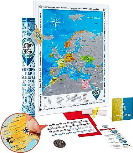 Mapa Rascar de Europa - Mapa de Europa Rascar Grande Detallado 48 ...