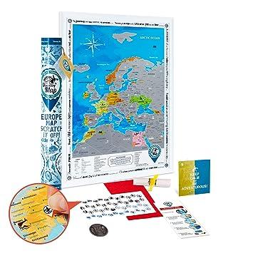 Carte Europe Voyage.Carte Europe A Gratter Deluxe Detaillee Carte De L Europe