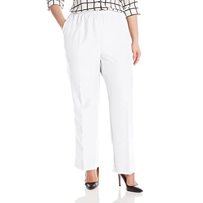 Alfred Dunner Women's Plus-Size Poly Proportioned Medium Pant at Women's Clothing store