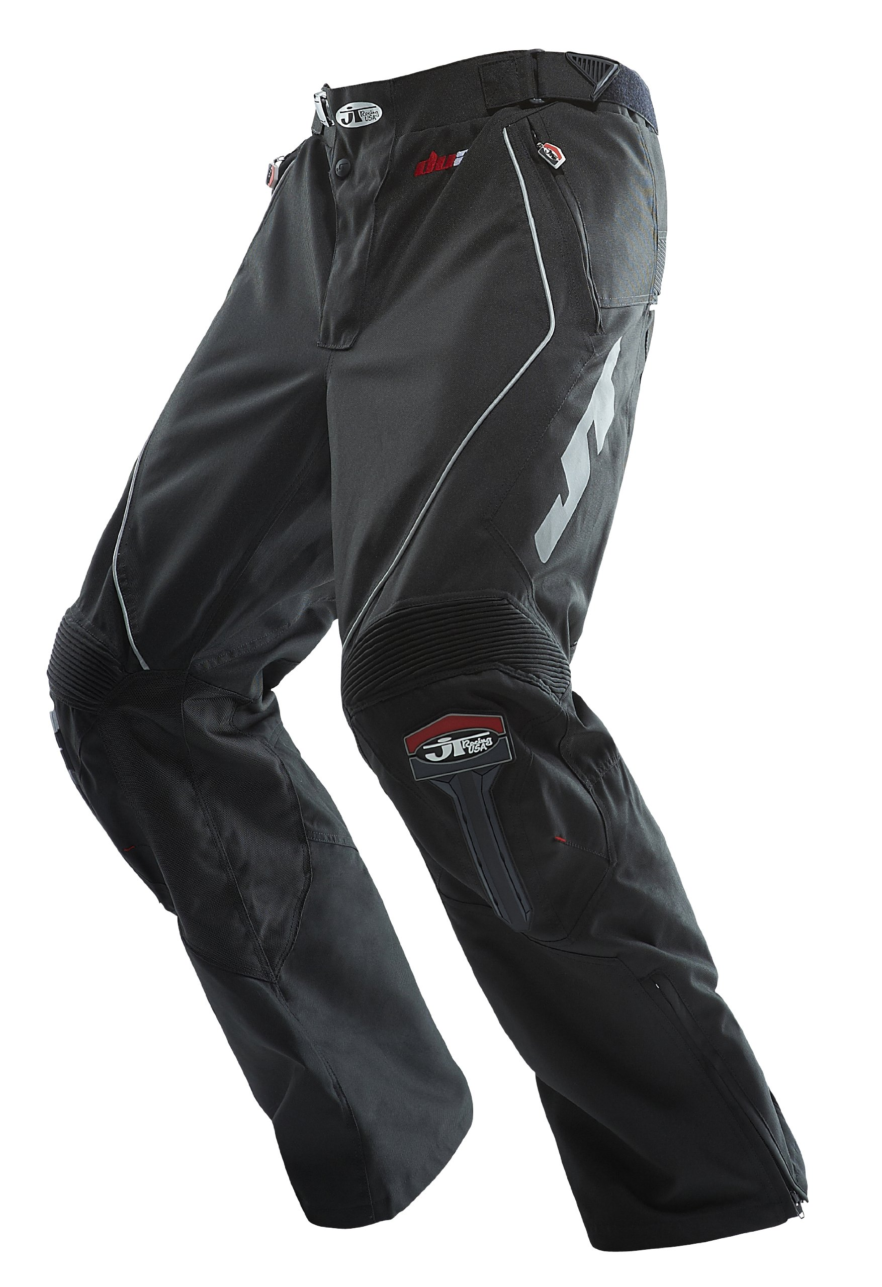 JT Racing USA Dirt Bike Enduro Pants (Black, Size 28)