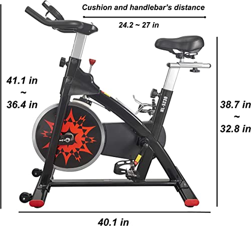 VIGBODY Exercise Bike Indoor Cycling Bike Adjustable Stationary Bicycle