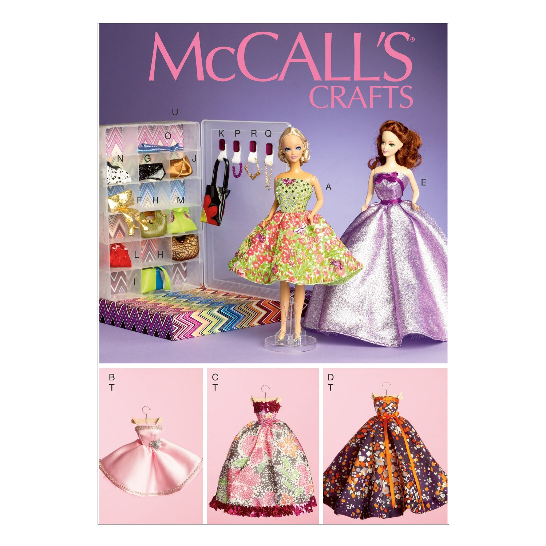 McCall's - Cartamodello 111, per abiti di bambola di 29 cm The McCall Pattern Company M6903OSZ