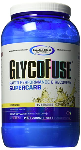 Gaspari Nutrition Glycofuse Lemon Ice Calorie Counter, 3.7 Pound