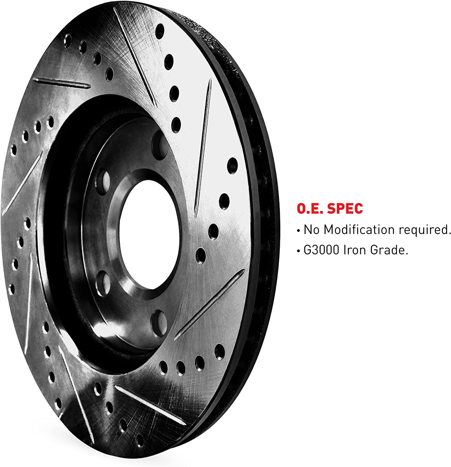 FITS 2009 2010 2011 2012 INFINITI G37X OE BLANK BRAKE ROTORS CERAMIC
