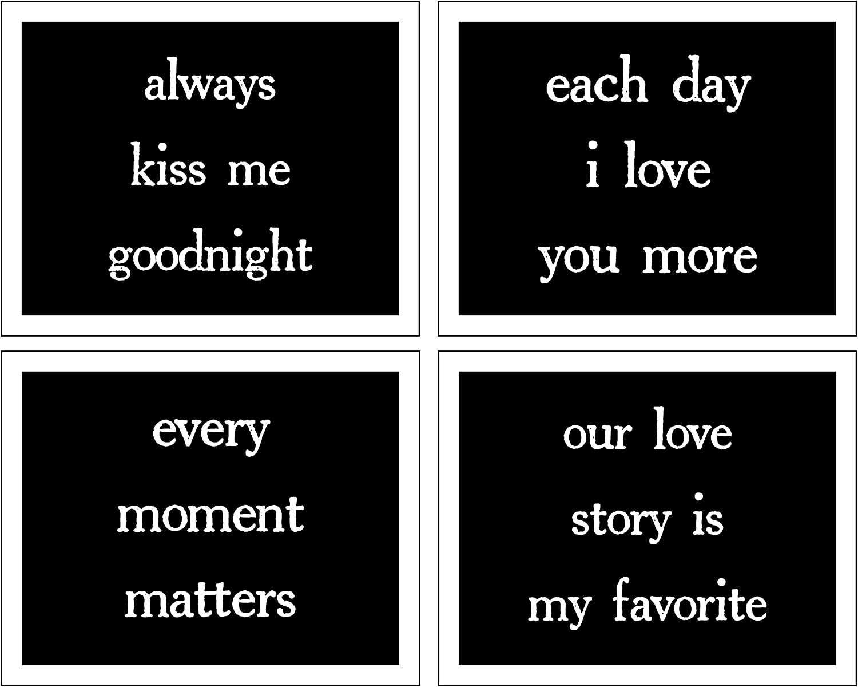 Damdekoli Couples Bedroom Quotes, 8x10 Prints Set of 4, Romantic Wall Art Prints, Minimal Decor, Mr and Mrs, Love