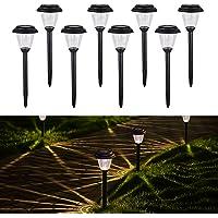 Homemory LED Solaire Jardin Lumière, Lot de 8, sans fil à LED Lampes de le chemin de paysage, Décor pour clôture, cour, jardin, serre, tous les résistant aux intempéries et étanche
