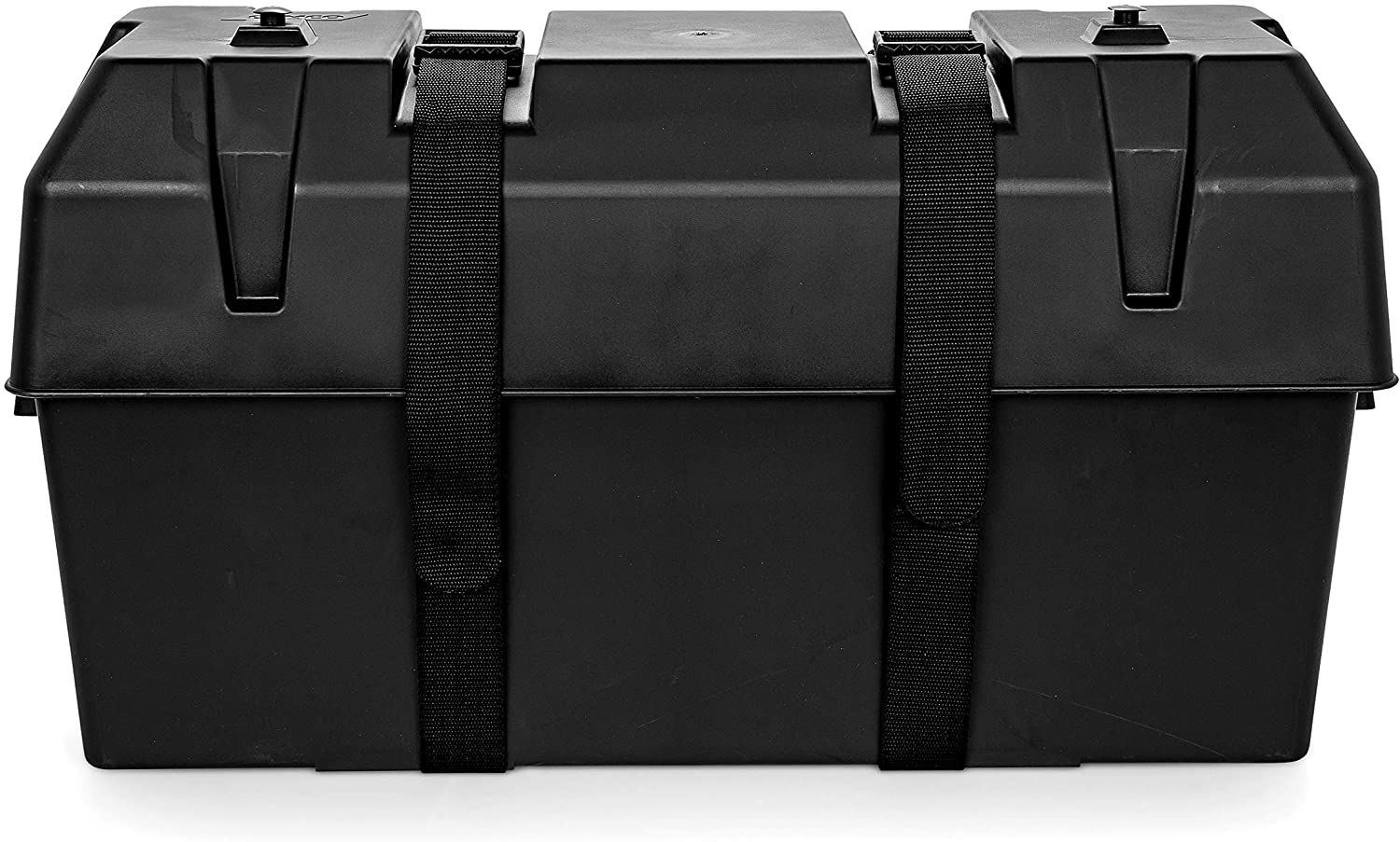 Camco Heavy Duty Double Battery Box with Straps and Hardware