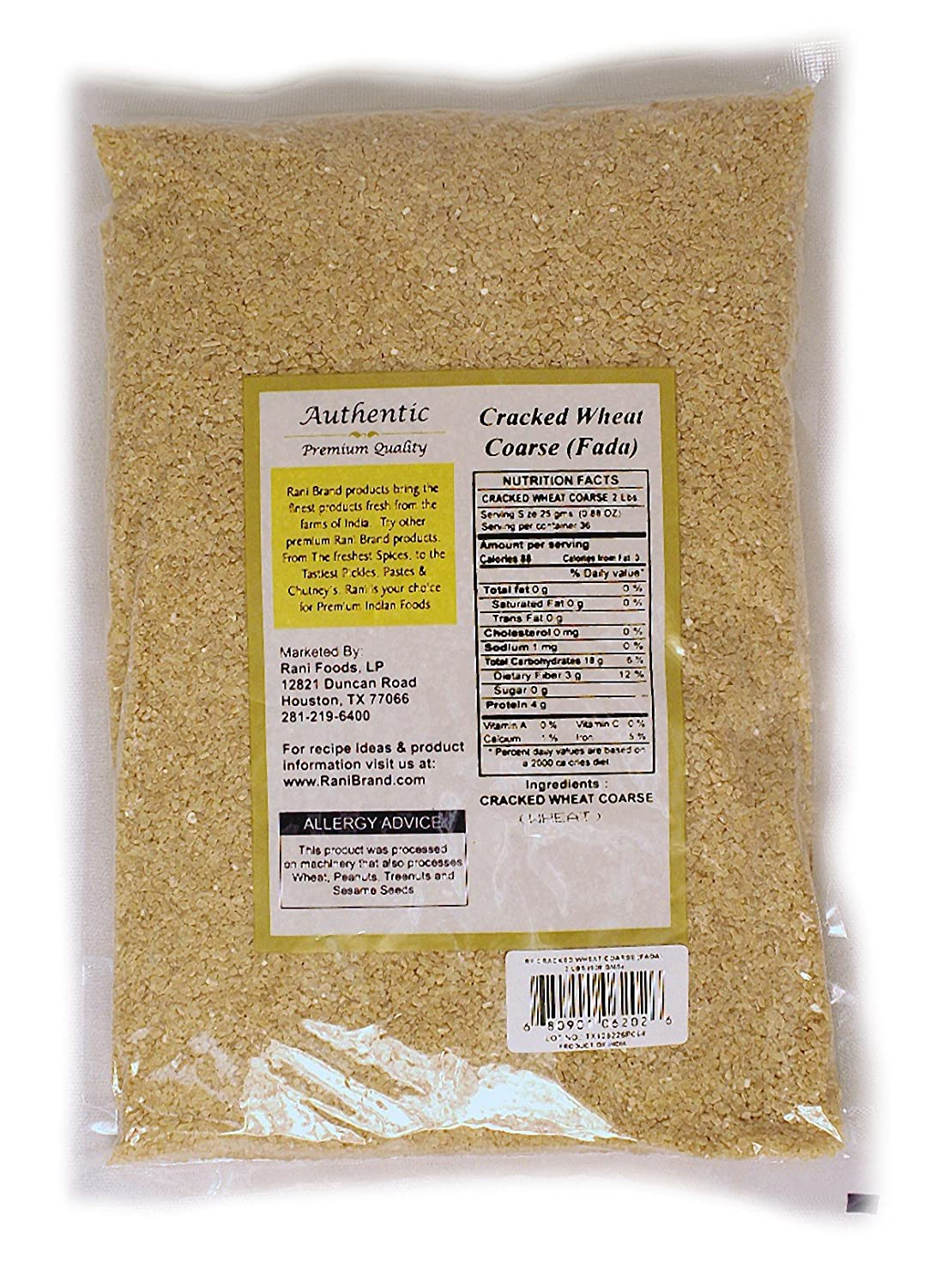 cracked bulgur wheat nutrition facts