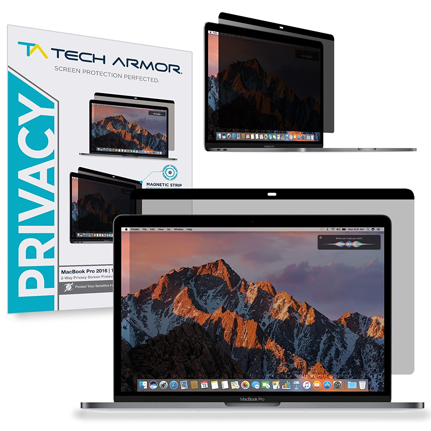 "Tech Armor MacBook Pro Privacy Screen Protector, Privacy Apple MacBook Pro Retina (2016/2017) Film, Easy Magnet Removal (MacBook Pro Retina 13"")"