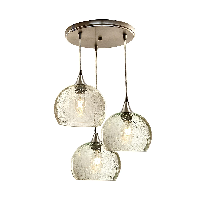 Amazon com bicycle glass lunar 3 pendant cascade chandelier design no 767 home kitchen