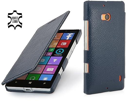 54 opinioni per StilGut Book Type Case, custodia in vera pelle versione booklet per Nokia Lumia