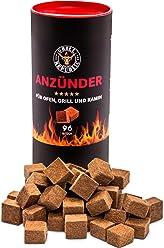 Grill-Anzünder von Grill Republic® | Ökologische Anzündwürfel aus Holz und Wachs mit extra langer Brenndauer | Geruchlos und umweltfreundlich
