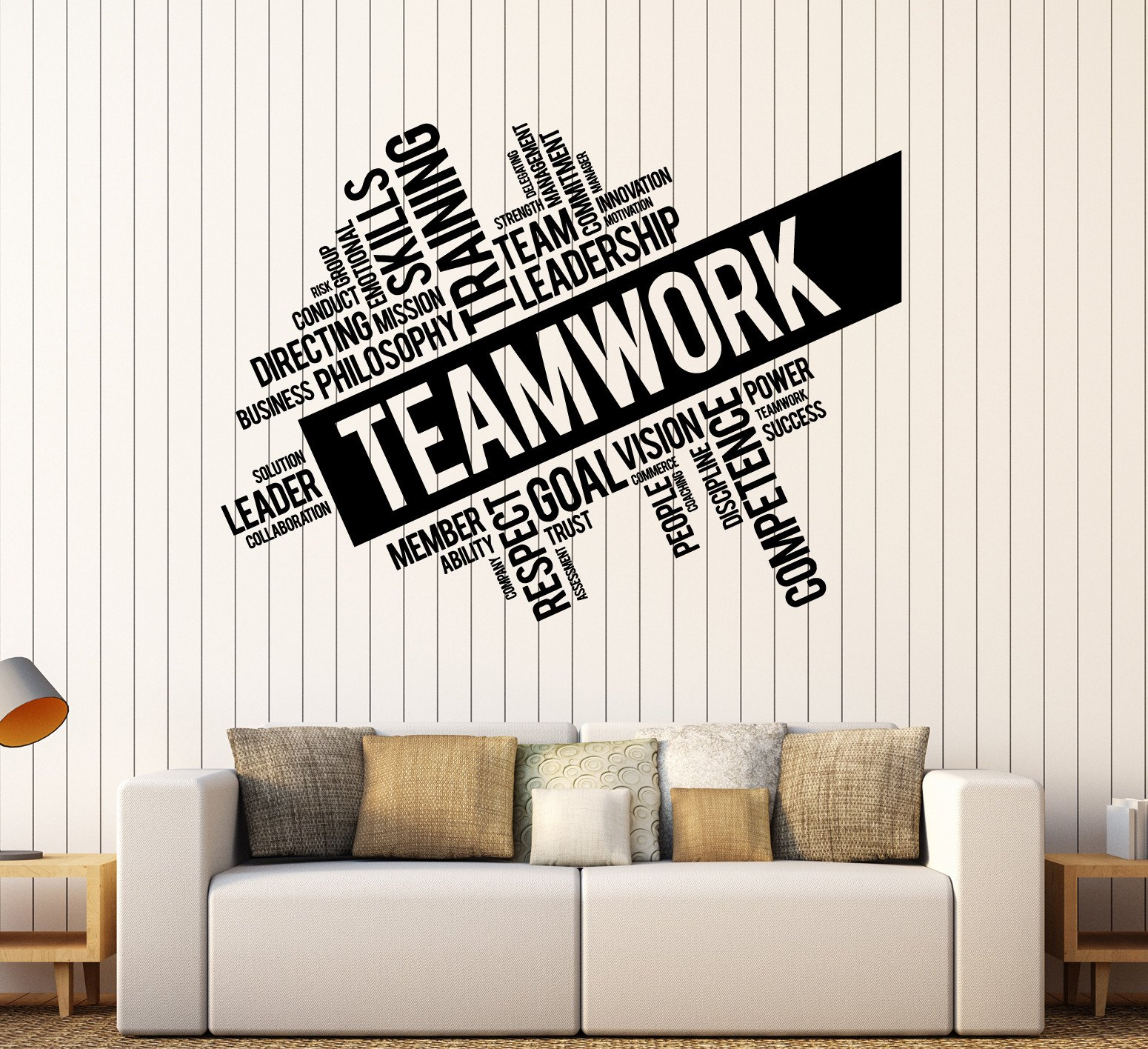 Vinyl Wall Decal Teamwork Success Office Decor Worker Stickers (ig4152) Black by Wallstickers4you (Image #1)