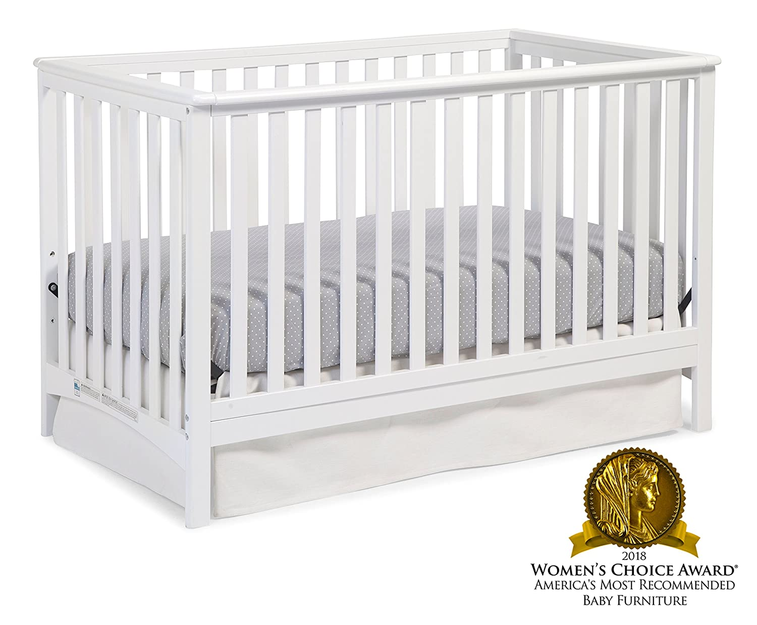 Gray Storkcraft Hillcrest 4-in-1 Convertible Crib